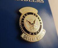"BRAND NEW Lapel Pin U.S. NAVY Operation Desert Storm Blue & White Enamel 1"""