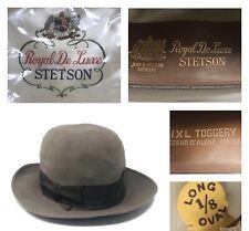 Stetson Royal De Luxe Fedora Hat 7 1/8 Long Oval IXL Toggery Coeur d'alene Idaho