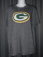 Majestic Green Bay Packers Large Dark Heather Gray Short Sleeve T-Shirt