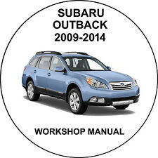 Subaru Outback 2009-2014 Workshop Service Repair Manual