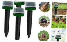 4 Pack Sonic Mole Repellent Solar Powered for Mole, Snake Gopher Vole and