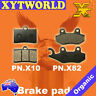 FRONT REAR Brake Pads PGO G-Max 125 (Wave disc) 2009 2010 2011 2012