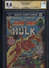 Marvel Team-Up #18 CGC 9.4 SS Len Wein 1974 Incredible Hulk HUMAN TORCH