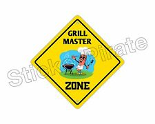 """*Aluminum* Grill Master Zone Funny Metal Novelty Sign 12""""x12"""""""