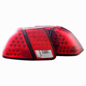 LED Taillight for 2001-2005 Honda Civic Sedan - Chrome/Red