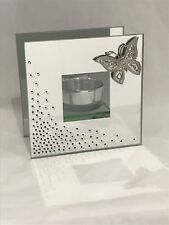 Wings of Love T-lite Wedding Glass Mirror Tealight Holder Butterfly Candle Gifts