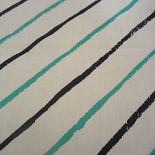 64CM X 114CM VINTAGE JOHN KALDOR PIQUE FABRIC WHITE COTTON GREEN DIAGONAL STRIPE