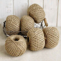 hot Natural 30M Brown Jute Twine String DIY Shabby Style Rustic Shank Craft GIFT