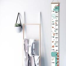 Wooden Kids Growth Height Chart Ruler Children Room Wall Decora Hanging R7K7