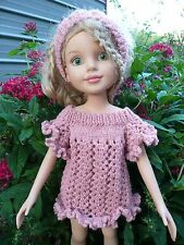 Handmade knit  doll Sweater dress & headband  Set