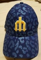 SEATTLE MARINERS Hat Ball Cap New Era 9FORTY Women's Adjustable Glitter
