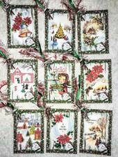 Set of 9 Hang Tags~Vintage Christmas Bells~Gift Tags~Scrapbooking~Card&#0 39;s~#148R