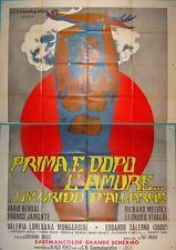 BEFORE AND AFTER SEX PRIMA E DOPO L'AMORE Italian 4F movie poster 55x79 1973
