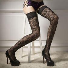 sexy da donna floreale pizzo sopra il ginocchio PARIGINE ELASTICIZZATO CALZINI