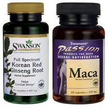 SWANSON Korean Red Panax Ginseng Root Maca Sexual Health Male & Female Sex 2018