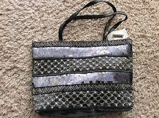 NEW Vintage NIMA Purse Shimmering Sequined Metallic Pewter Beaded Handbag NWT