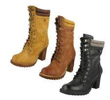 Calzado de mujer Botas de caña media de textil de color principal marrón