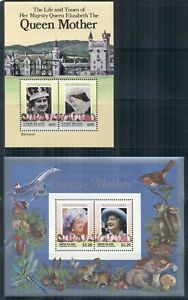 ST. VINCENT UNION ISLAND 210-12 MNH 1985 Queen Mother set of 3MS Cat$12
