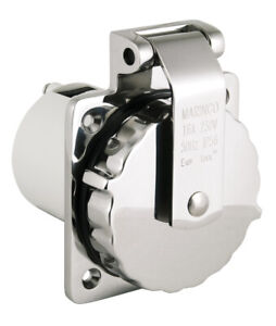 Marinco Stainless Steel Inlet 16A / 230V Heavy Duty Shore Power Inlet