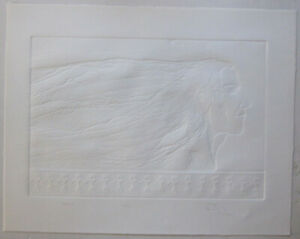 Raven by Alicia Austin Signed & Numbered Original Blind Emboss Lithograph AP I