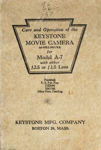 KEYSTONE MODEL A7 INSTRUCTION BOOK