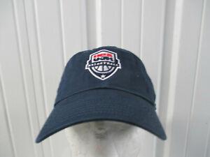 VINTAGE NIKE USA OLYMPIC BASKETBALL NATIONAL TEAM BLUE SEWN STRAPBACK HAT CAP