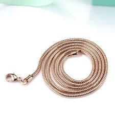 "18k Rose Gold Filled Men/Women Snake Necklace 24""Chain LINK GF costume Jewelry"