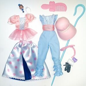 Toy Story 4 Epic Moves Bo Peep Barbie Action Doll Disney OUTFIT ACCESSORIES Lot