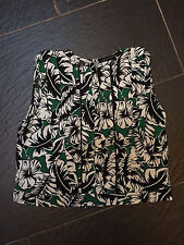 ZARA WOMAN GREEN BLACK WHITE FLORAL TOP SIZE SMALL BRAND NEW £29.99