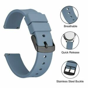 Watch Band 14 18 20 22 24 mm Quick Release Rubber Replacement Strap