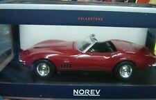 "Norev 1:18 189036 1969 Chevrolet Corvette Convertible Cabriolet rot ""Neu""(114)"