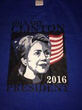 Hillary Clinton President 2016 Blue gildan Shirt adult Medium M tshirt hrc