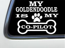 """ThatLilCabin - My Goldendoodle Is My Copilot 6"""" As1393 car sticker decal"""