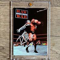 1998 WWF The Rock Superstarz Rookie Auto #15 RARE NICE AUTO