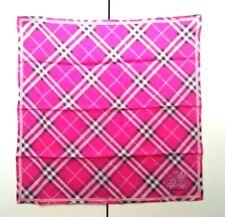 Burberry Pocket Square Handkerchief Scarf Neckerchief Bandana Nova Check Pink