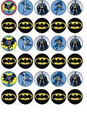 30 Batman Edible Cupcake Toppers Party Cake Decoration - PRE CUT