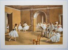 Edgar DEGAS : Le cours de danse # LITHOGRAPHIE SIGNEE et N° # RARE # BALLERINE