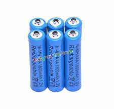 6x AAA 1800mAh 1.2V Ni-MH Rechargeable battery 3A Blue