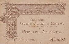 """# MILANO: testatina illustrata- """"MODA DI PURA ARTE ITALIANA""""- G. VISCONTI DI .."""