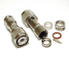 2x UG-59B/U Koax HN HF Stecker von Amphenol, MIL Qualität