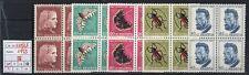 Svizzera - 1953 - Pro Juventute - MNH - nn.539/543 - Quartine