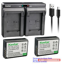 Kastar Battery Dual Charger for Canon LP-E10 LC-E10 & Canon EOS Rebel T7 DSLR
