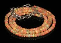 "50 Ctw 1Necklace 3to5 mm17"" Beads Natural Genuine Ethiopian Welo Fire Opal*T1391"