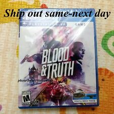 🔥Brand New Blood and Truth VR video game Disc PS4 PlayStation 4 PSVR Ship Fast