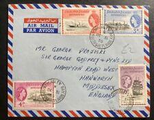 1955 South Shetlands Falkland Islands Airmail Cover To Hanworth England