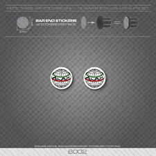 6002 - Alan Bicycle Handlebar Bar End Plug Stickers - Decals