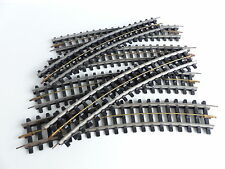 Jep 6 rail curves with sleepers Devers this o plastic o scale
