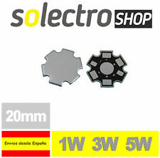 3x Disipador Placa Base LED 1W 3W 5W Power Led Aluminium Base Heatsink P0039