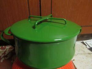 DANSK Kobenstyle Green Enamel 2 Quart Pot w/ Lid-- GREAT CONDITION--