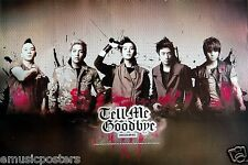 "BIG BANG ""TELL ME GOODBYE"" POSTER FROM ASIA - K-Pop Music, Korean Boy Band"